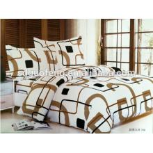 Tissu en soie pour le lit violet bande 4pcs coton lit simple housse de couette 100% naturel drap de lit