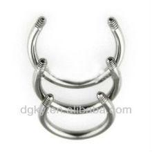 16 GA aço inoxidável Circular Bar Nose Body jóias peças