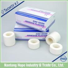 Cinta adhesiva de óxido de zinc de color blanco para uso médico