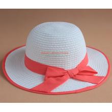 Sombrero de paja de los niños con el Bowknot para las muchachas lindas