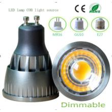 Regulable 9W GU10 COB LED Bombilla