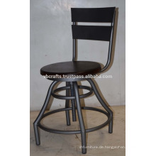 Vintage Industrie Hocker Drehhocker Mango Holz runden Sitz