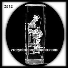 K9 Imagen del Laser dentro de bloque de cristal
