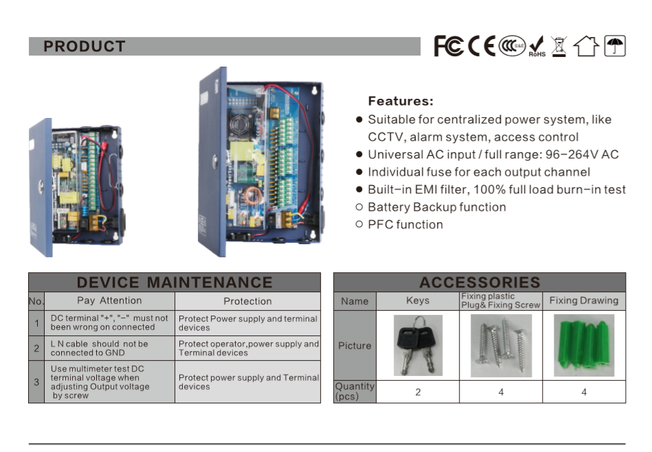 cctv power supply box