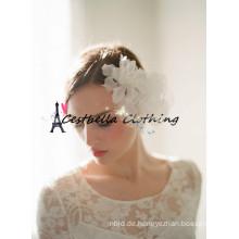 Blumen-Kronen-böhmische weiße Hochzeits-Haar-Zusätze Braut-Halo-Kreis-einfaches Blumenstirnband