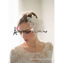 Flower Crown Bohemian branco Casamento Acessórios de cabelo Bridal Halo Circlet Simple Floral Headband
