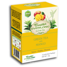 Mangoflavored Green Tea Pyramid Tea Bag Premium Blends Organic & EU Compliant (FTB1503)