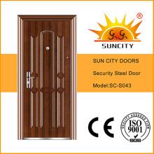 Safety Iron Main Door Designs Apartment Exterior Door (SC-S043)
