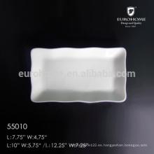 55010 Chaozhou plato de plato de conejo de porcelana con la impresión