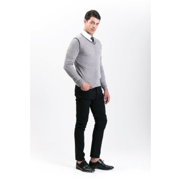 Men′s Fashion Cashmere Blend Sweater 18brssm008