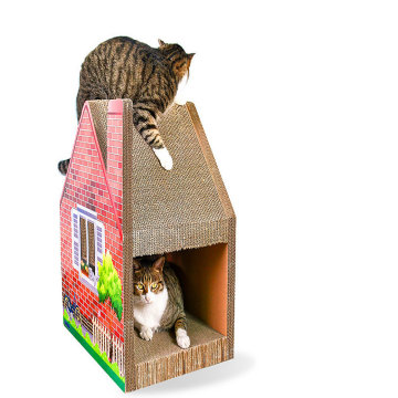 Pets Product Corrugated Paper Cardboard House Cat Toys