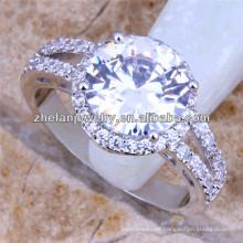 Verlobungsring des amerikanischen Ureinwohner-Diamantschädel-Ehering 18k Weißgold überzog Ring