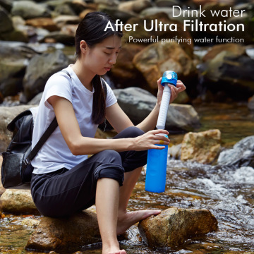 Outdoor Hiking Essential Filter siliconen waterfles