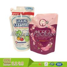 Berufsverpackenlieferanten-kundenspezifisches Logo-Design gedrucktes gespritzter Plastikreinigungsmittel-Flüssigkeits-Beutel