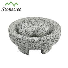 Stone Mortar & Pestle Molcajete Mexican Bowl Guacamole-Spice
