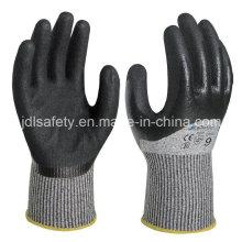 Рулька, погружение безопасности перчатка с Сэнди нитрил (ND8062)