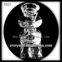 Suporte de vela de cristal popular Z024