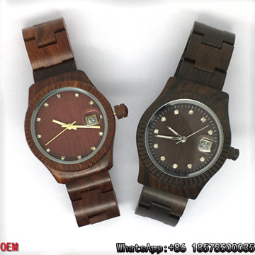 Top-Quality Maple/Red/Ebony-Wooden Watches Quartz Watches Hl12