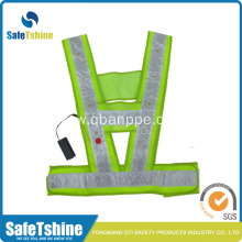 Fashionable cool flashing LED lighted safety vest