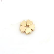Atacado DIY Materiais de Jóias Kawaii Prata Ouro Amor Encantos Do Coração De Pêssego