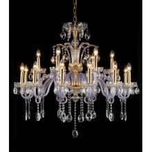 Hotel Decorative Purple Glass Chandelier (11001-18L)