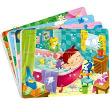 Custom Design Children Girls Favor Educational Paper Jigsaw Printing Puzzle