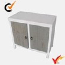 Armário de piso de portas duplas branco provincial mobiliário