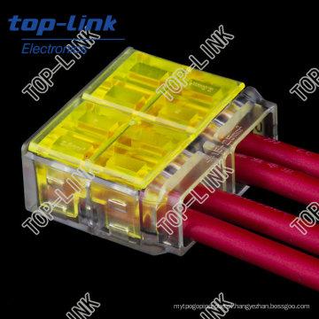 Quick Electrical Wire Connector (4 fios, empurrar para dentro)