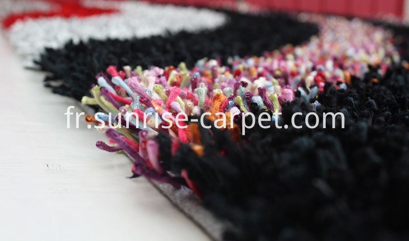 Viscose Polyester Shaggy with Design Rug