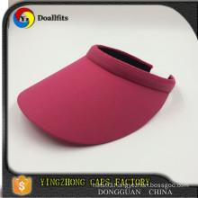 custom design fashion red colour ladies summer sun visor