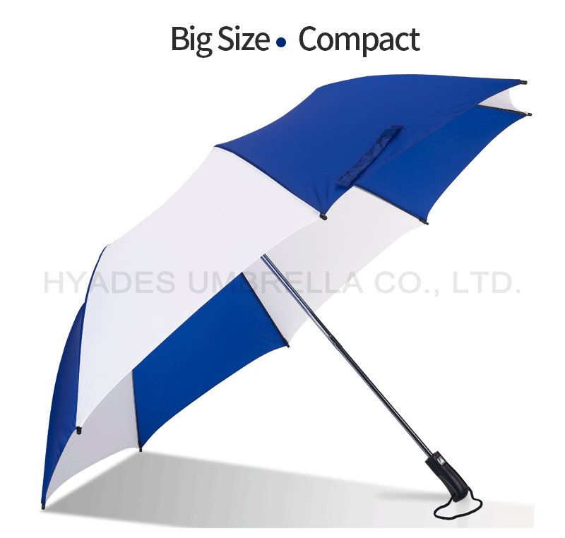 golf umbrella blue and white