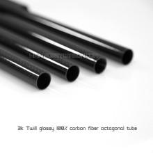 Venda quente 15x13x500mm 100% Completa 3 K Brilhante / Fosco Tubo De Fibra De Carbono / Rod Carbono Paddle Shaft para Drone