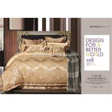 Luxo Shiny Royal Duvet Cover Bedding Conjunto Jacquard 4, 7, 10 Peças