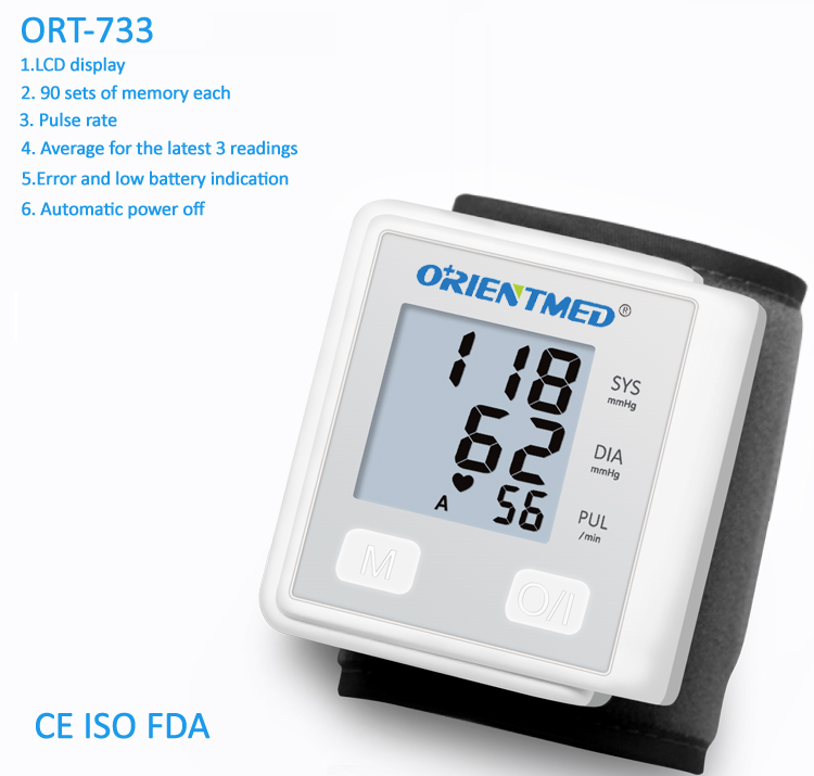 Ort733 Wrist Blood Pressure Monitor