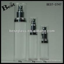 BEST-3747 / flacon de lotion / pot acrylique droit rond, pmma, abs, as, flacon cosmétique 15/30/45/70/50/120/228 / ml