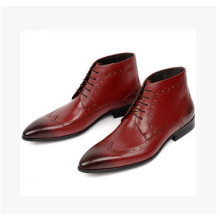 Gradient Win Red Color Men Leather Shoes (NX 443)