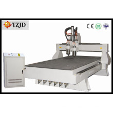 Machine à rouleaux CNC à double broche en bois