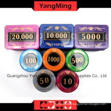Crystal Screen Poker Chip Set (730PCS) -1