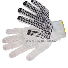 Gants en coton pointu en PVC Gant industriel pour la sécurité des mains