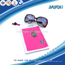 cute pink microfiber sunglasses pouch