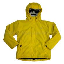 Твердых лимона с капюшоном дождя куртку/плащи