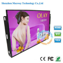 Moniteur d'affichage à cristaux liquides de haute luminosité de cadre ouvert de 24 pouces HDMI avec des boutons de menu