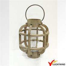 Свеча Tealight Вися деревянная скамья таблицы напольная Сторона украшения фонарика