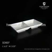 ceramic white porcelain soy sauce dish, snack dish, chip and dip plate