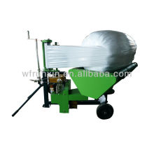 Mini silage round bale wrapper for silage storage/Bale wrapping