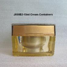 Square Shape Acrylic Cap Cream Jar J050B2