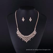 Collar rhinestone plateado oro de las alas del ángel de la moda fijado para señora