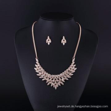 Mode Strass Vergoldet American Angel Wings Halskette Set für Dame