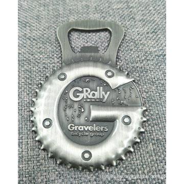 Custom 3D Antique Silver Die Casting Bottle Opener