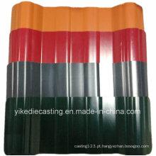 Telhado de telha plástico ondulado revestido da cor da vida de 25years